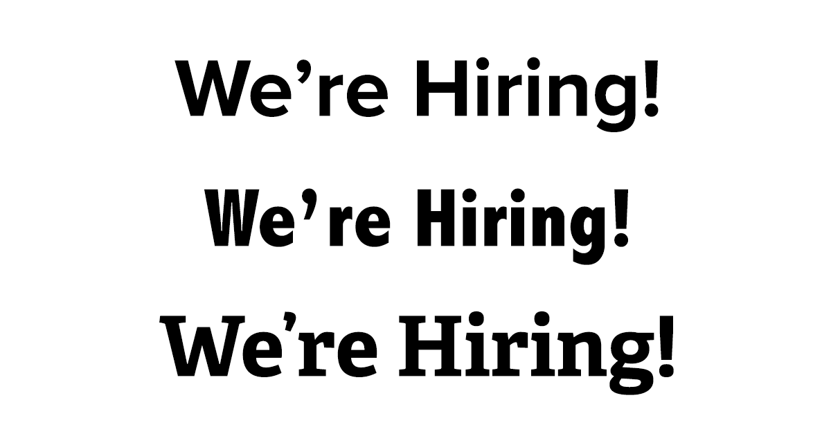 examples of good font choices for hiring signage