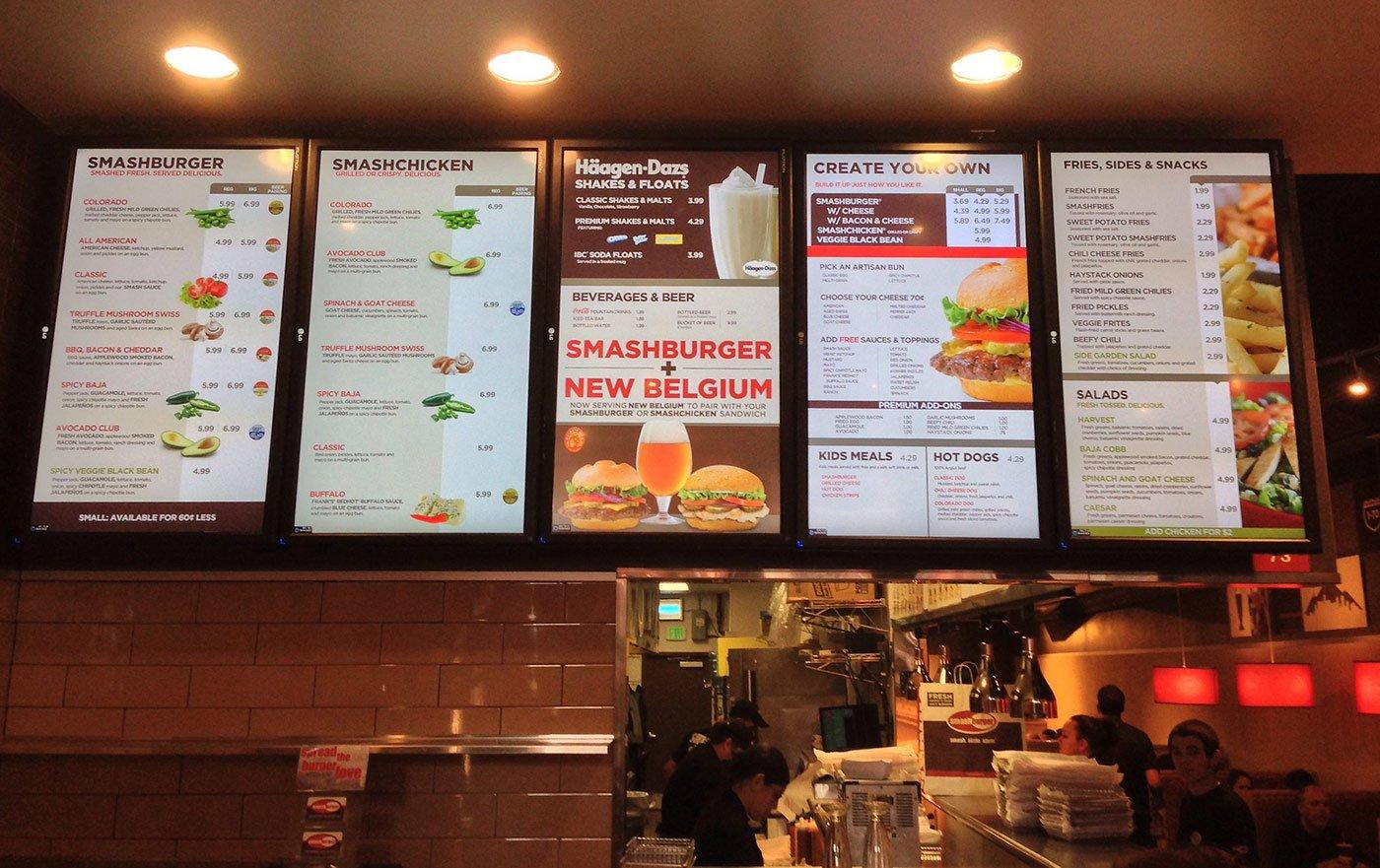 Excellent Restaurant Digital Signage