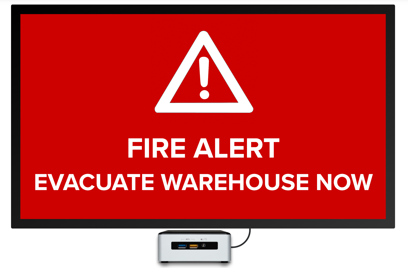 fire alert evacuate digital signage template