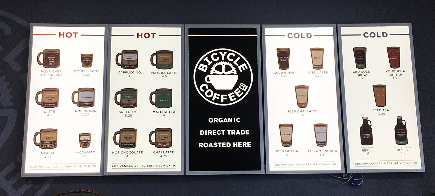 Great Coffee Shop Menu Design