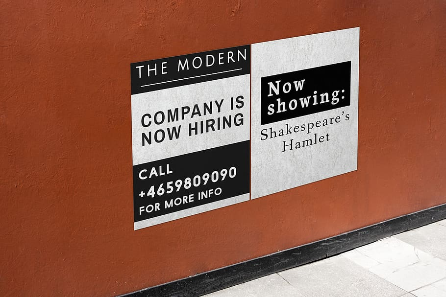 Hiring Signage With Instructions