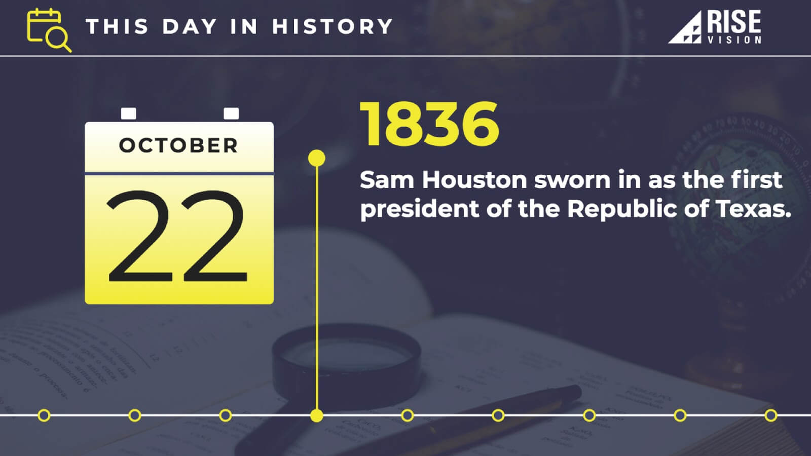 historical facts digital signage template