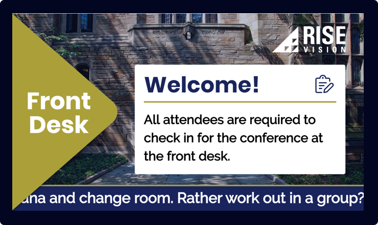Hotel Events and Conferences Digital Signage