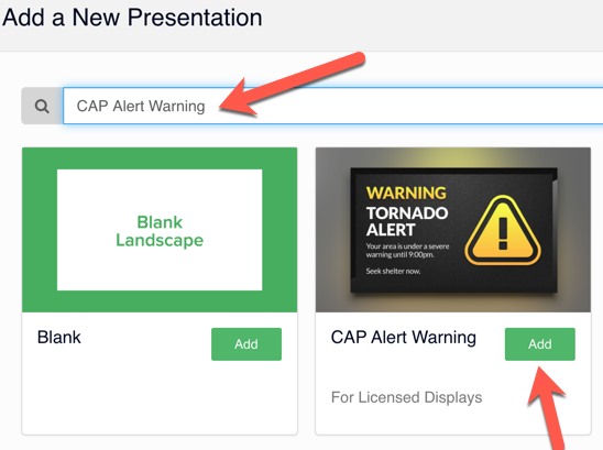 How to Add CAP Alert Template in Rise Vision