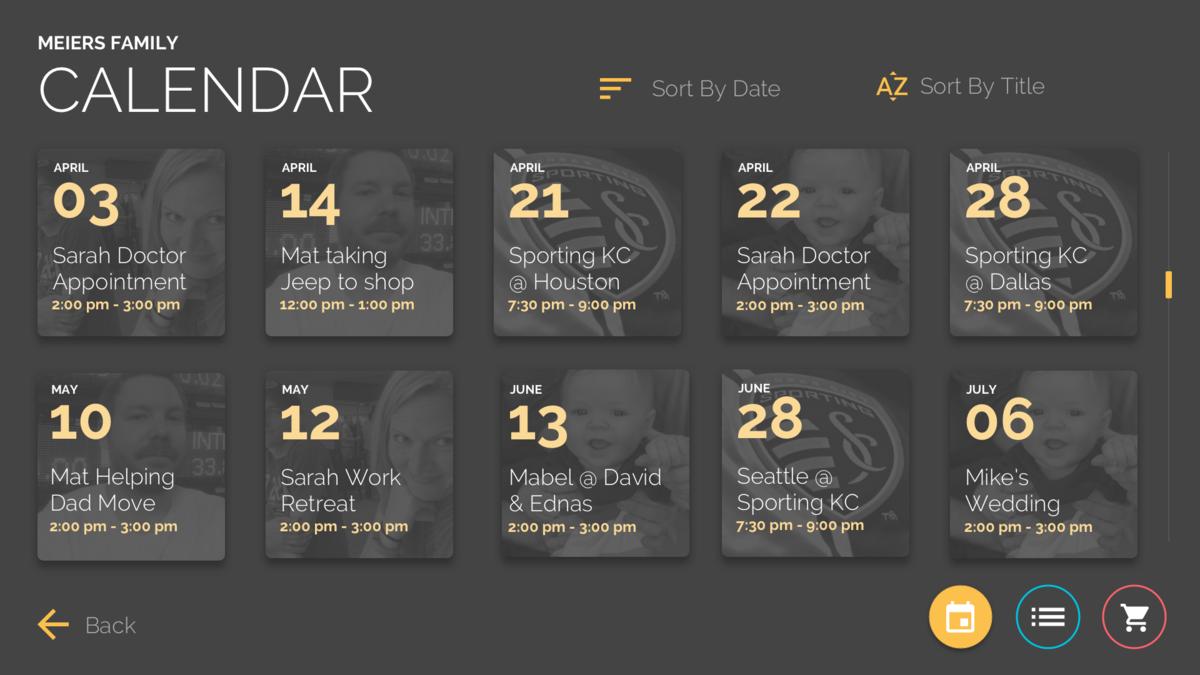 in home digital signage calendar