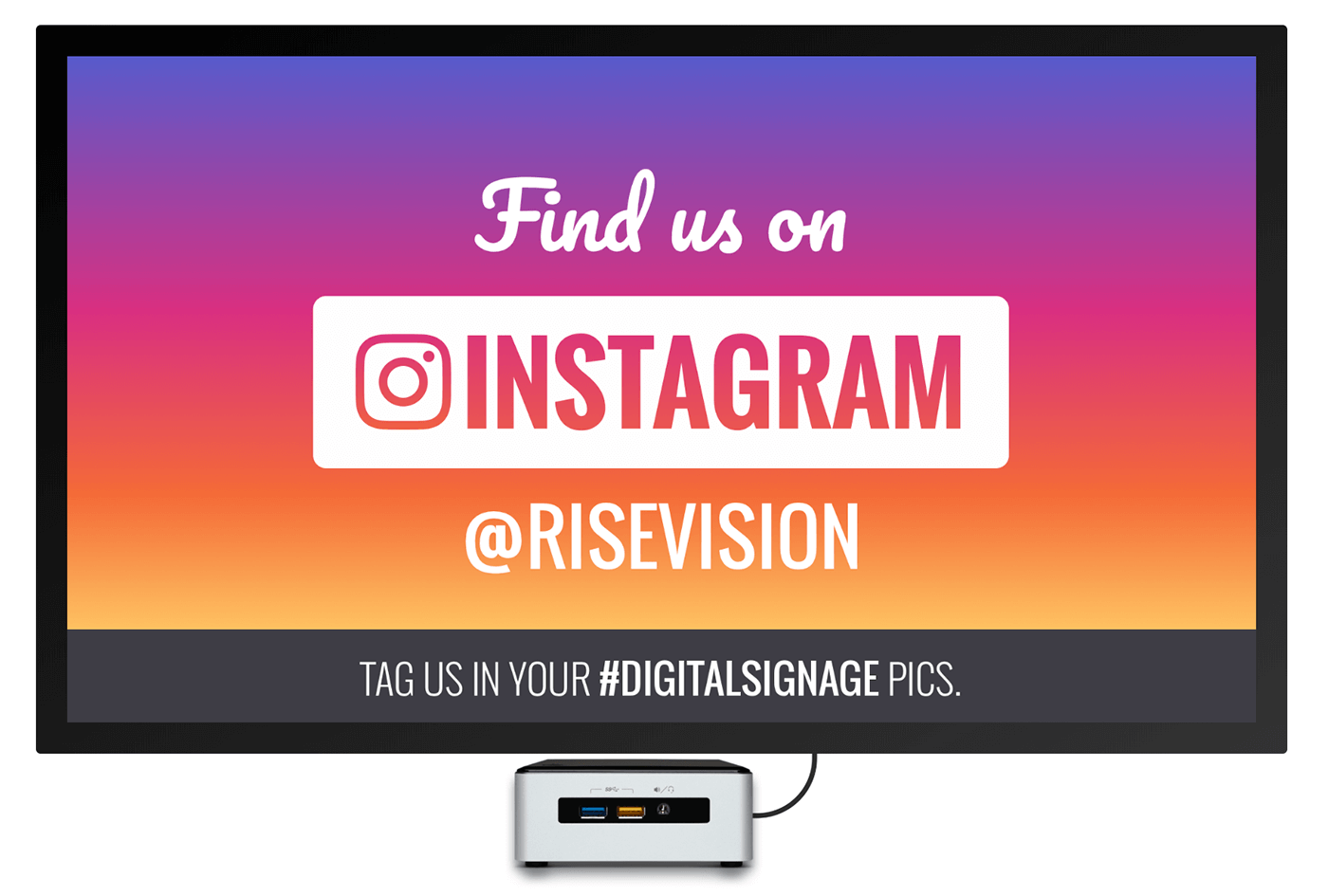 instagram digital signage template welcome