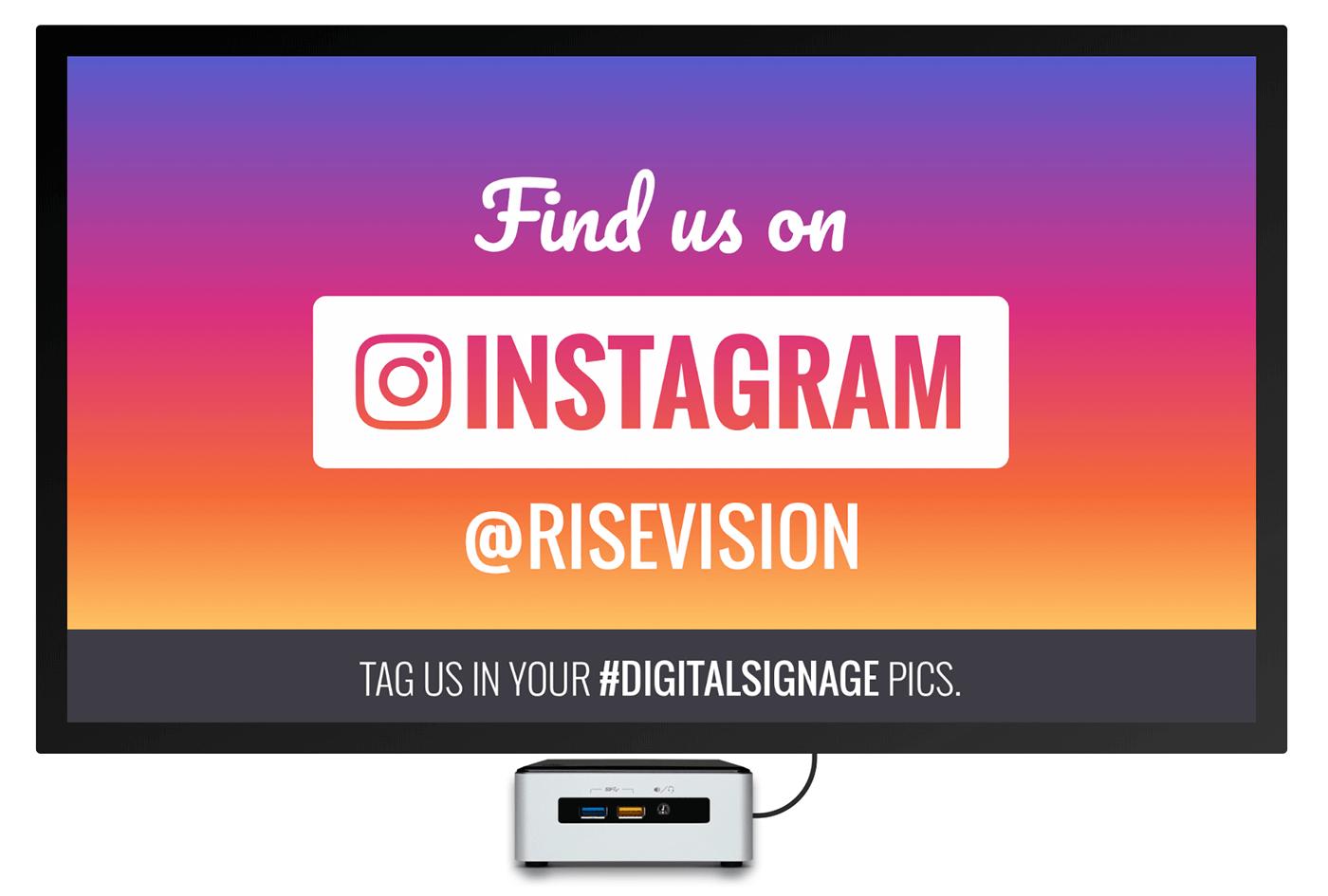 instagram digital signage template welcome