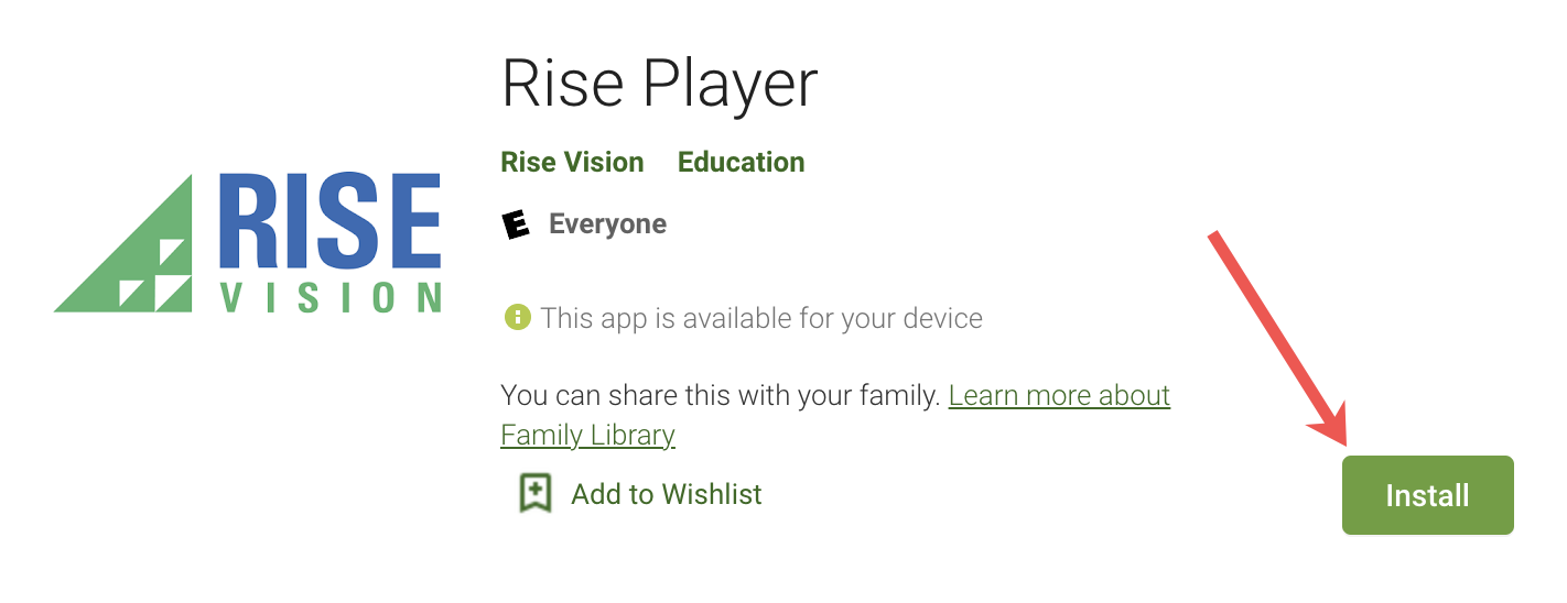 install rise player
