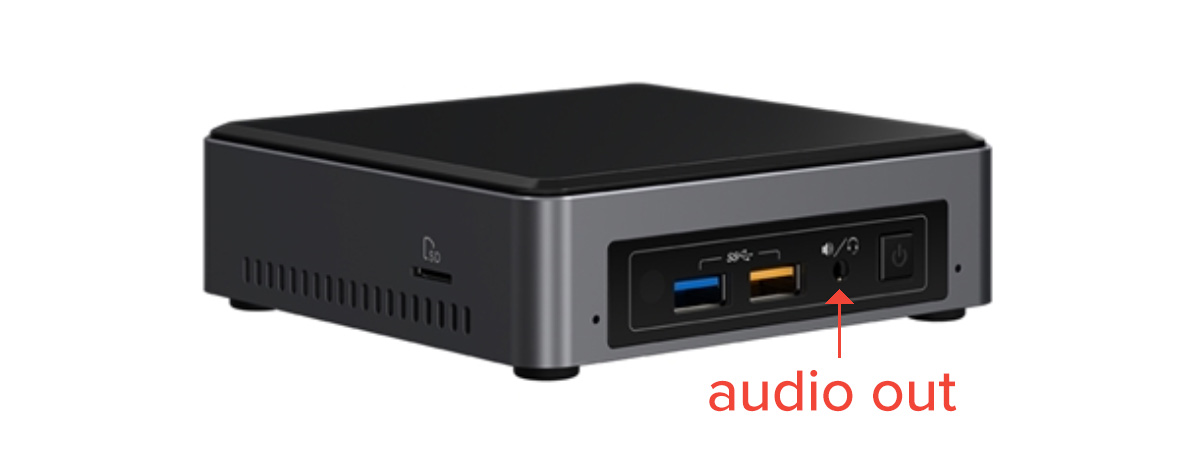 intel NUC media player audio out