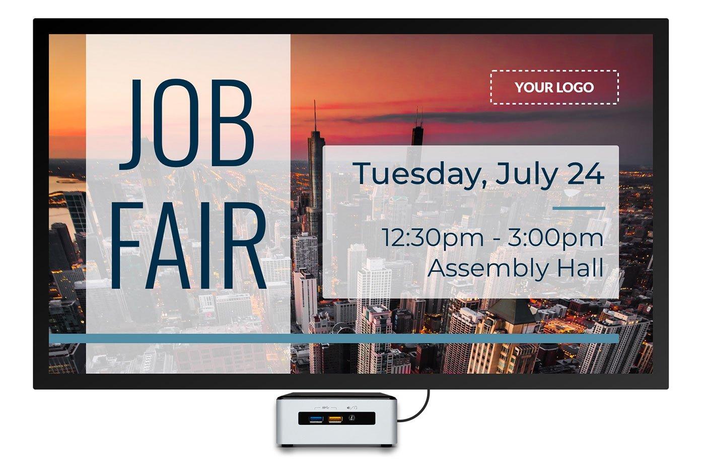 job fair hiring digital signage template