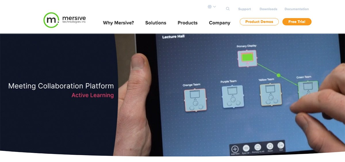 mersive solstice collaboration tool homepage
