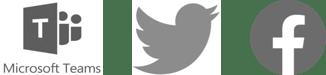 Microsoft Teams Twitter Facebook