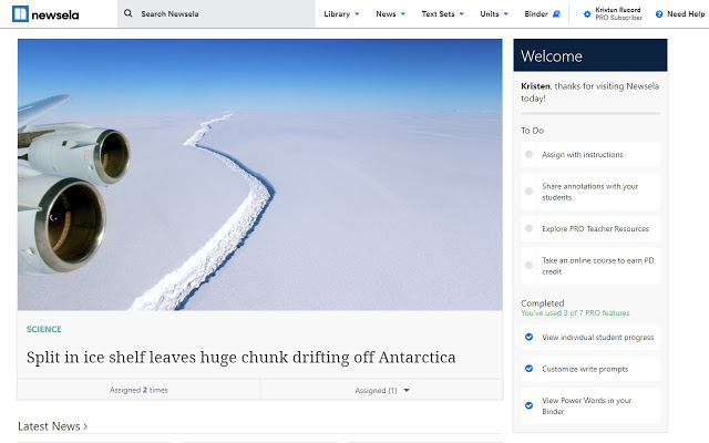 newsela for students