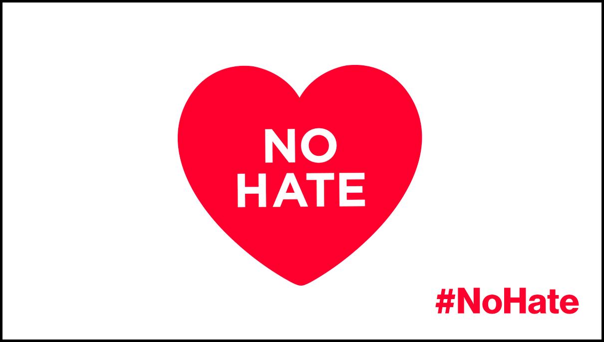 no hate digital signage template