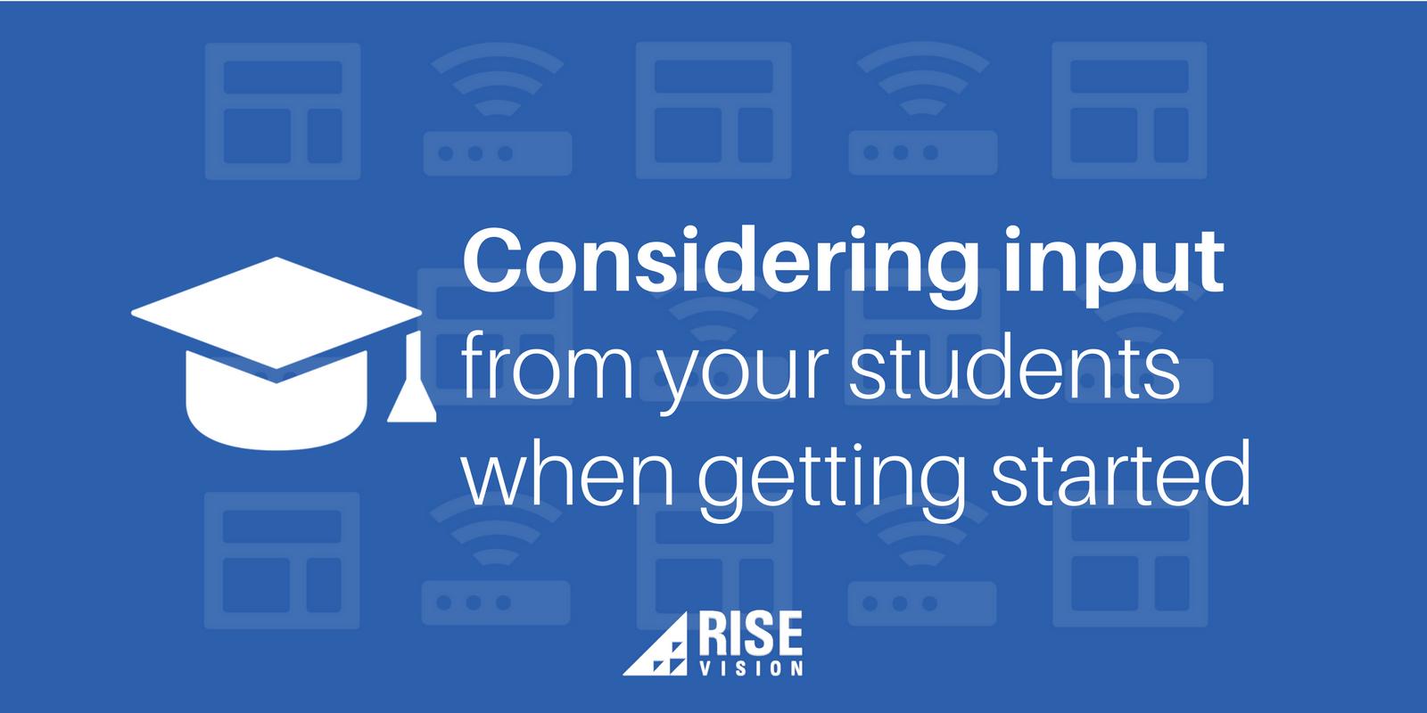 Get Student Input