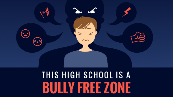 Bully free zone digital signage template