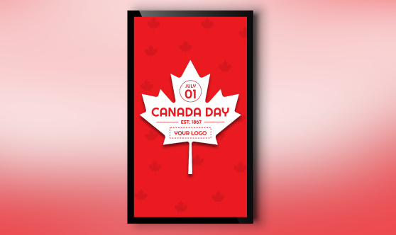 Portrait style Canada Day template