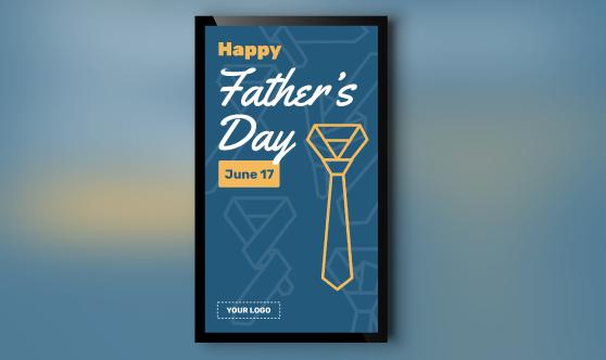 Father's Day Digital Signage portrait