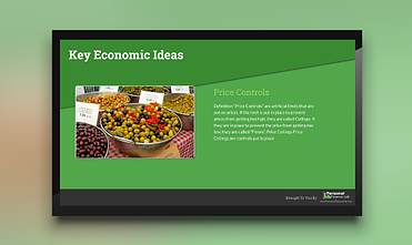 economic ideas template