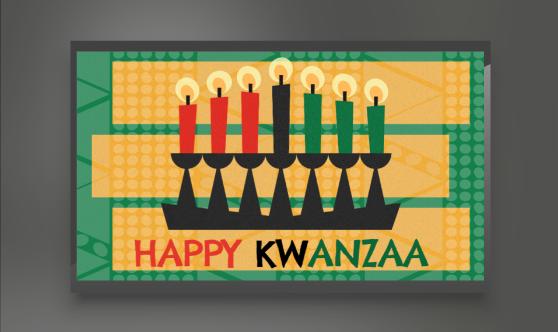 Kwanzaa digital signage template