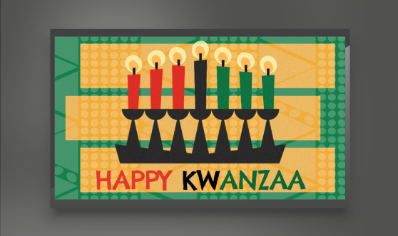 Kwanzaa digital signage template