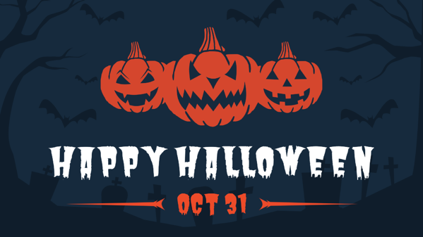 3 pumpkins halloween digital signage