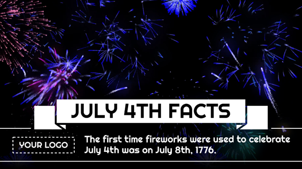 fourth of july facts digital signage template