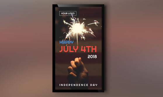 4th of July Portrait Template for Digital Signage