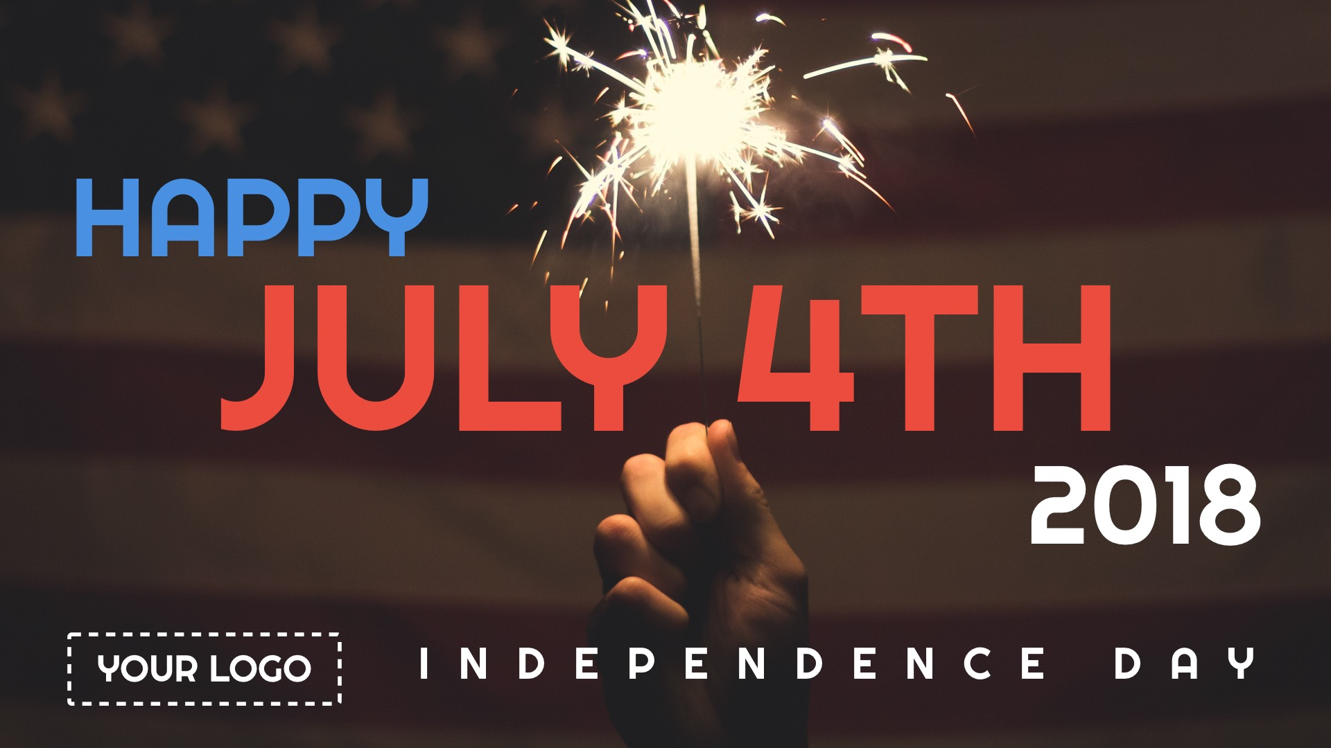 4th of July digital signage template