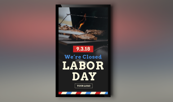 labor day template portrait