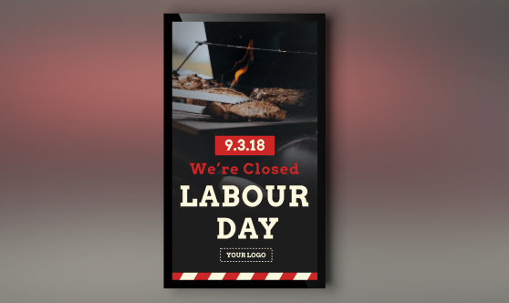 labor day digital signage portrait
