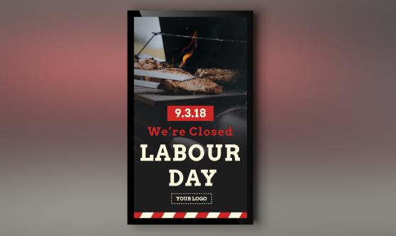 labor day digital signage portrait