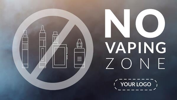 No Vaping Digital Signage Template