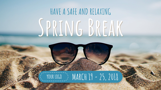 Spring Break Digital Signage Template
