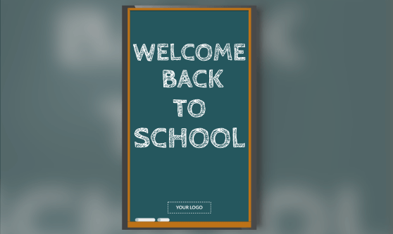 Welcome Back to school portrait template