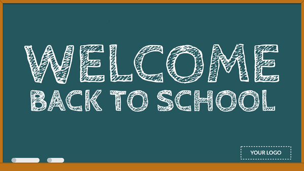 Welcome back to school signage template