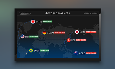 world markets digital signage template