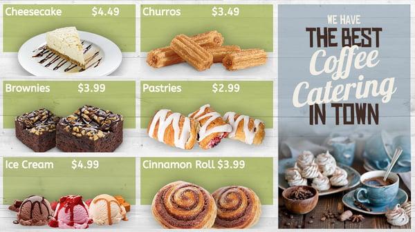 lunch menu digital signage