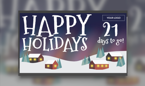 happy holidays countdown template