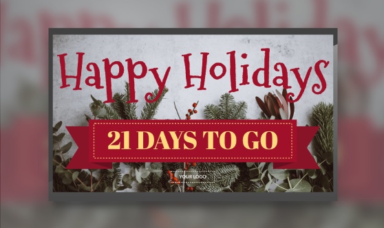 happy holidays digital signage