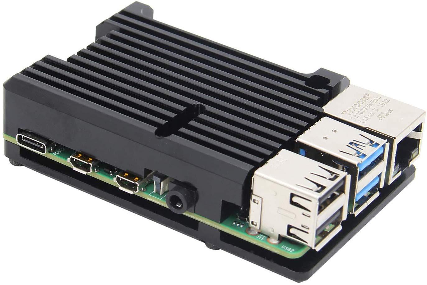 Raspberry Pi 4 Model B with heatsink case