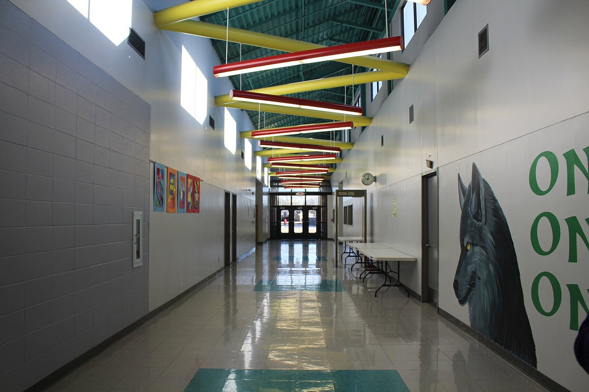 school hallways digital signage