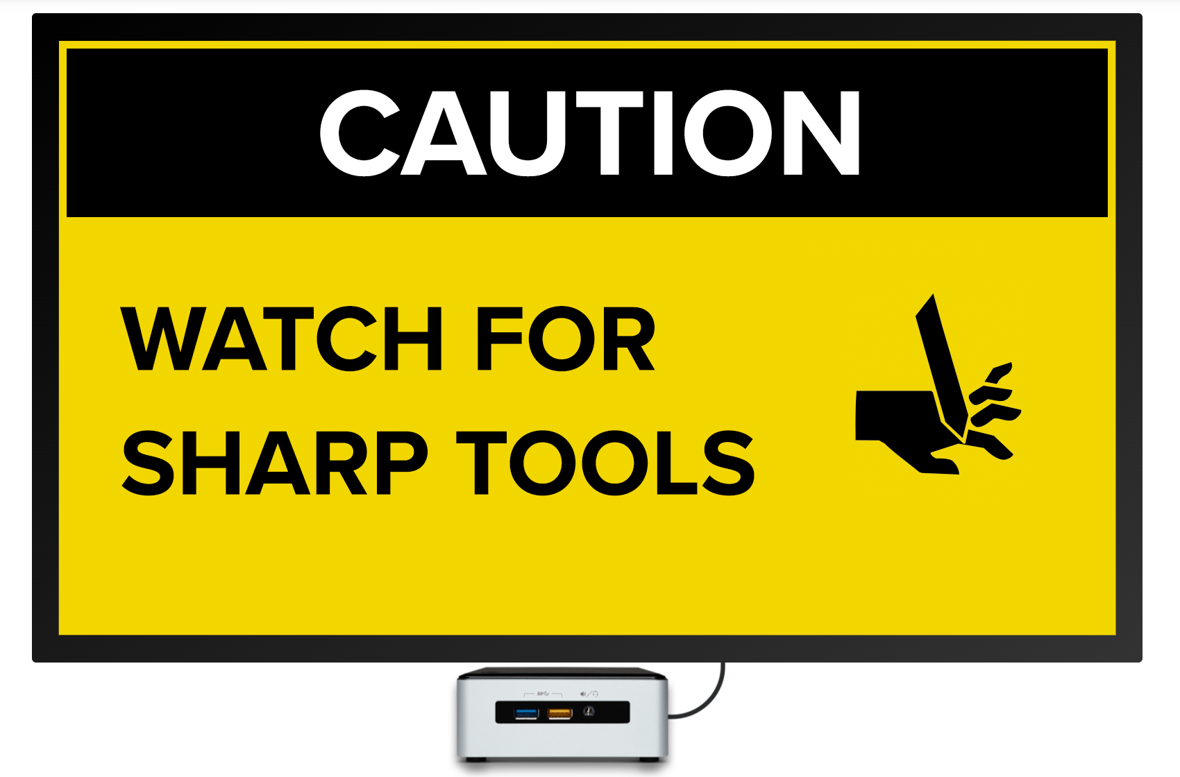 sharp tool digital signage