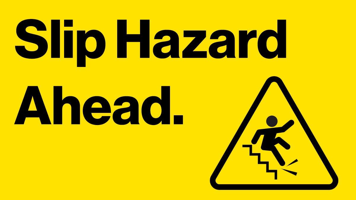 slip hazard digital signage template