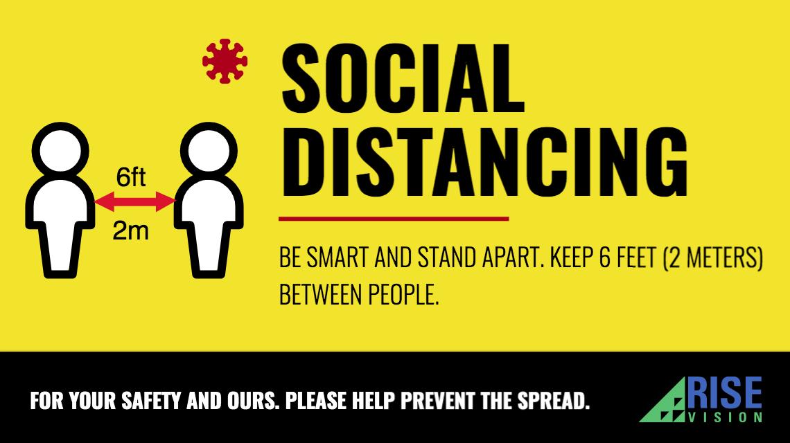 social distancing digital sign