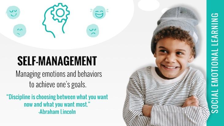 social emotional learning self management poster