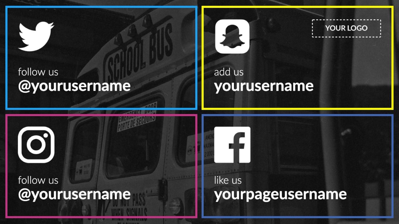 social-media-digital-signage-template