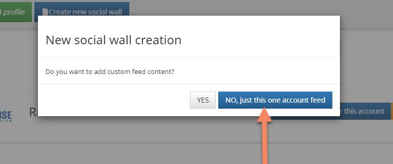 new social media wall creation