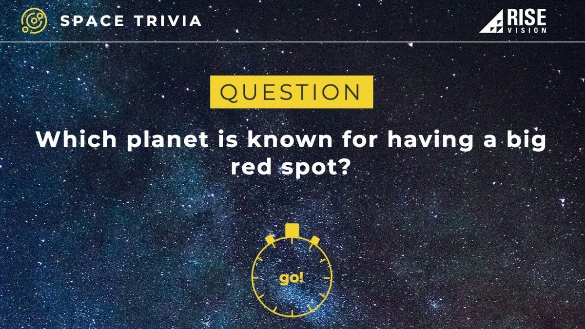 Space Trivia Digital Signage Template