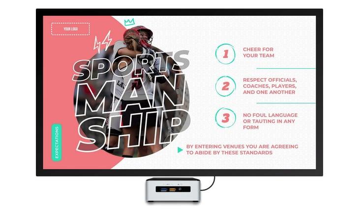 sportsmanship-rules-digital-signage-template
